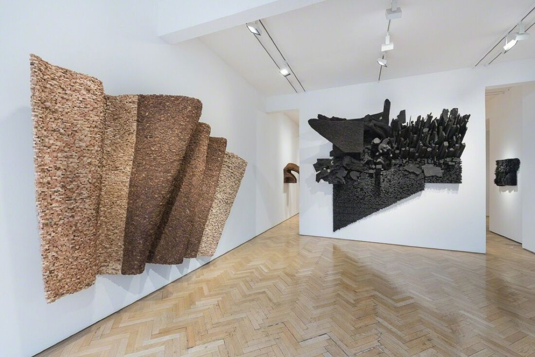 Installation view of Leonardo Drew at Vigo Gallery. Image courtesy of Vigo Gallery.
