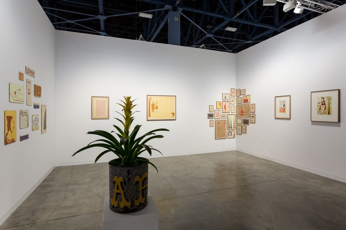 Installation view ofRatio 3's booth at Art Basel in Miami Beach, 2016. Photo by Alain Almiñana for Artsy.