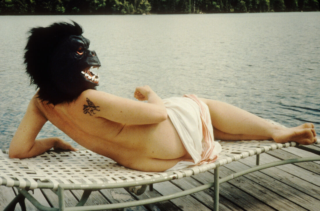 Gorilla Sunbathing. Courtesy of Sydney Contemporary and Guerilla Girls