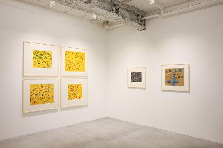"Installation view of""Yayoi Kusama: Prints Part 2,""courtesy ofOta Fine Arts"