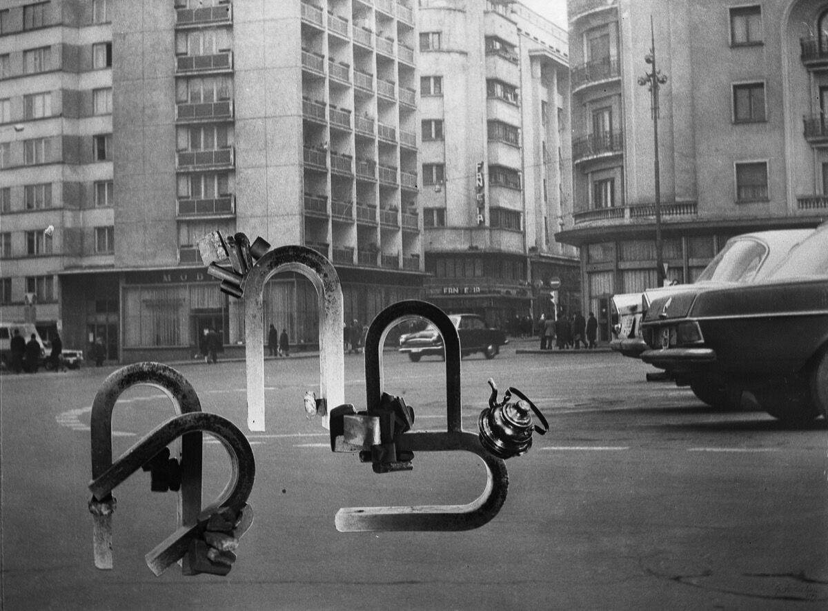 Geta Brătescu, Magnetii in Oras (Magnets in the City) (detail), 1974. Photo by Mihai Brătescu. © Geta Brătescu. Courtesy of the artist and Hauser & Wirth.