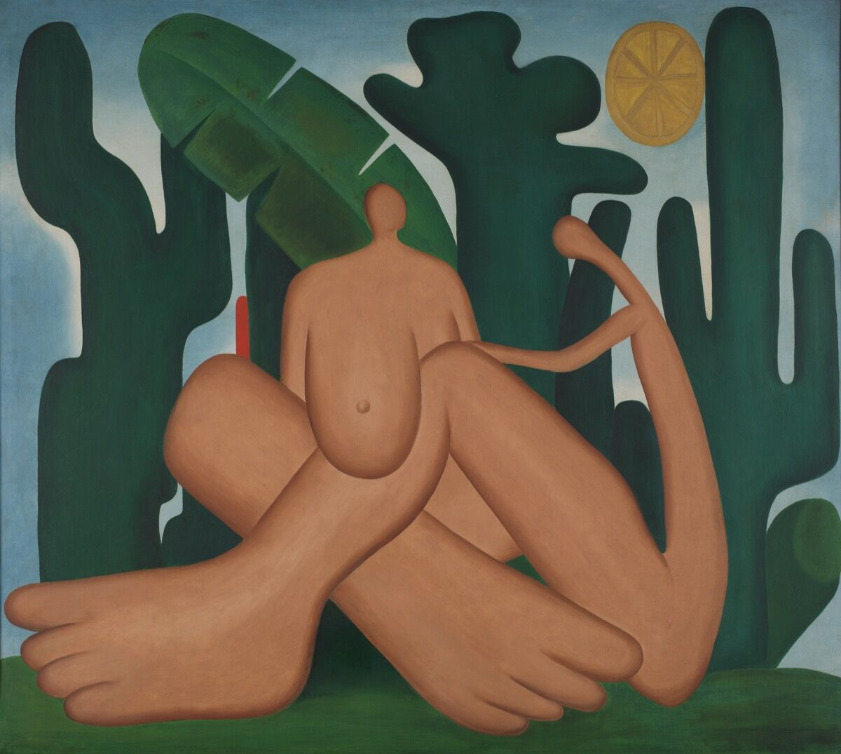 Tarsila do Amaral, Anthropophagy (Antropofagia), 1929. Acervo da Fundação Jose e Paulina Nemirovsky, em comodato com a Pinacoteca do Estado de São Paulo. © Tarsila do Amaral Licensing.