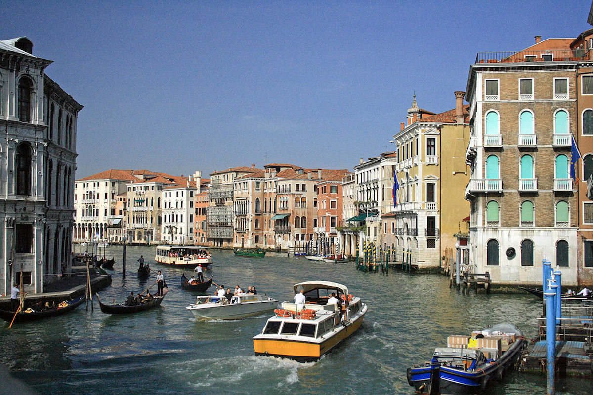 Venice, Italy, site of a noted biennial. Photo by Pe-sa, via Wikimedia Commons.