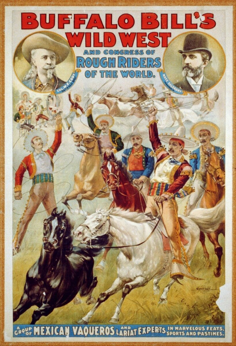 Poster for Buffalo Bill's Wild West. Image via Wikimedia Commons.