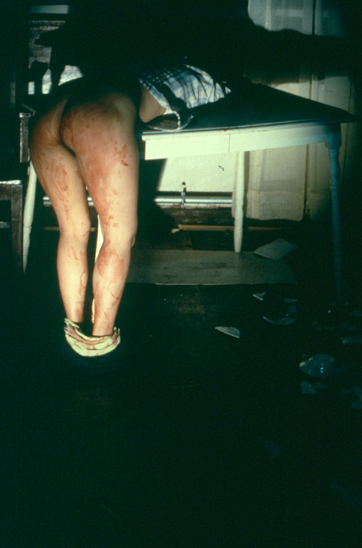 Ana Mendieta, Rape Scene, 1973. Courtesy of the Estate of Ana Mendieta Collection, LLC, and Galerie Lelong, NY.