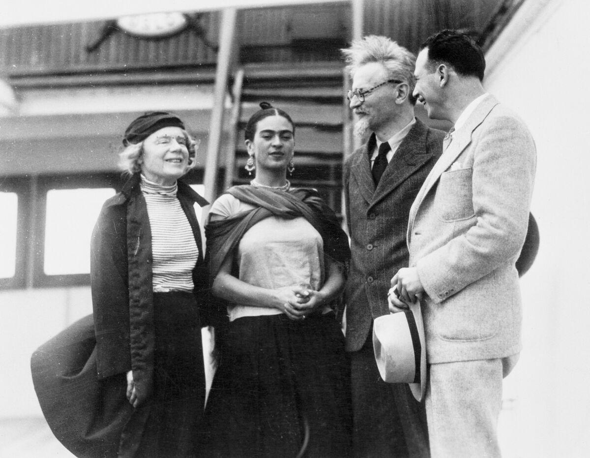 Leon Trotsky, Natalya Sedova, Frida Kahlo and Max Schachtman, Mexico, 1937. Photo by Bettmann via Getty Images
