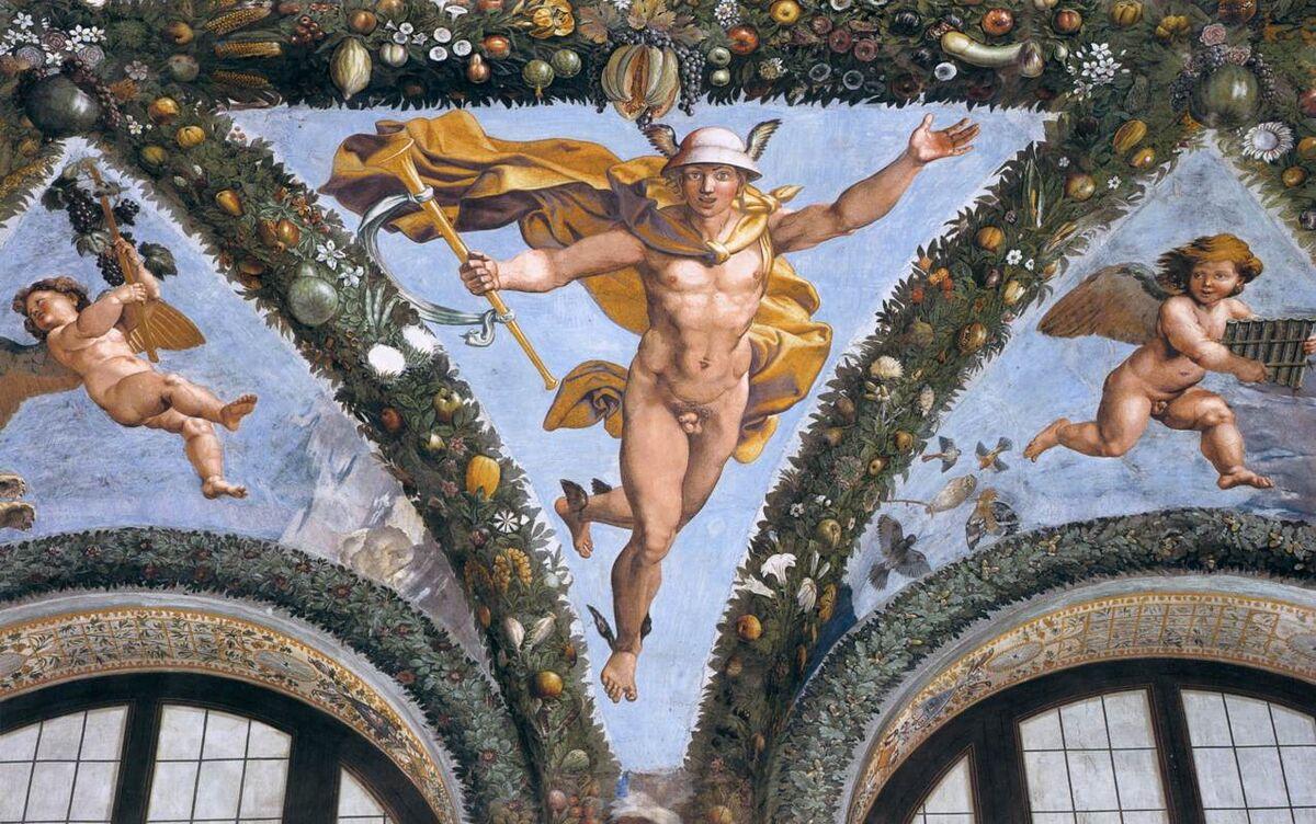 Raphael Sanzio, Villa Farnesina. Image via Wikimedia Commons.