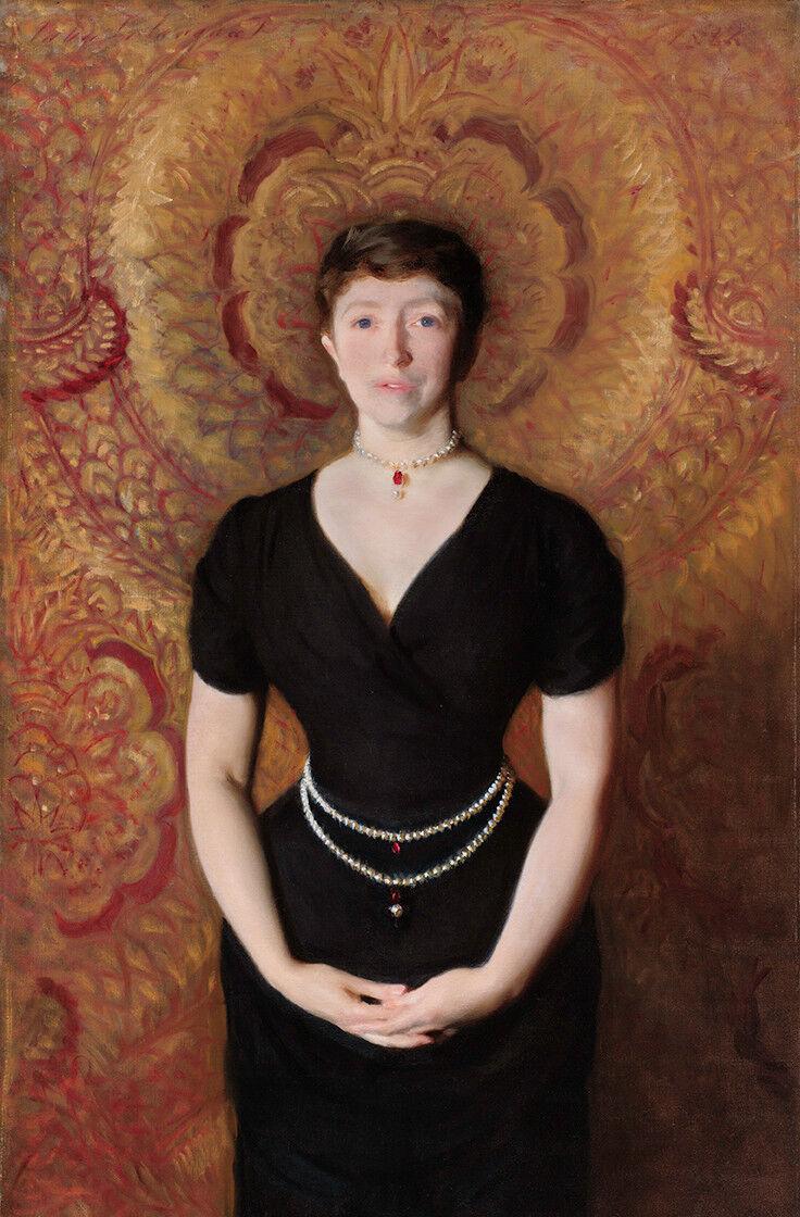 John Singer Sargent, Isabella Stewart Gardner (detalle), 1888. Cortesía del Museo Gardner.