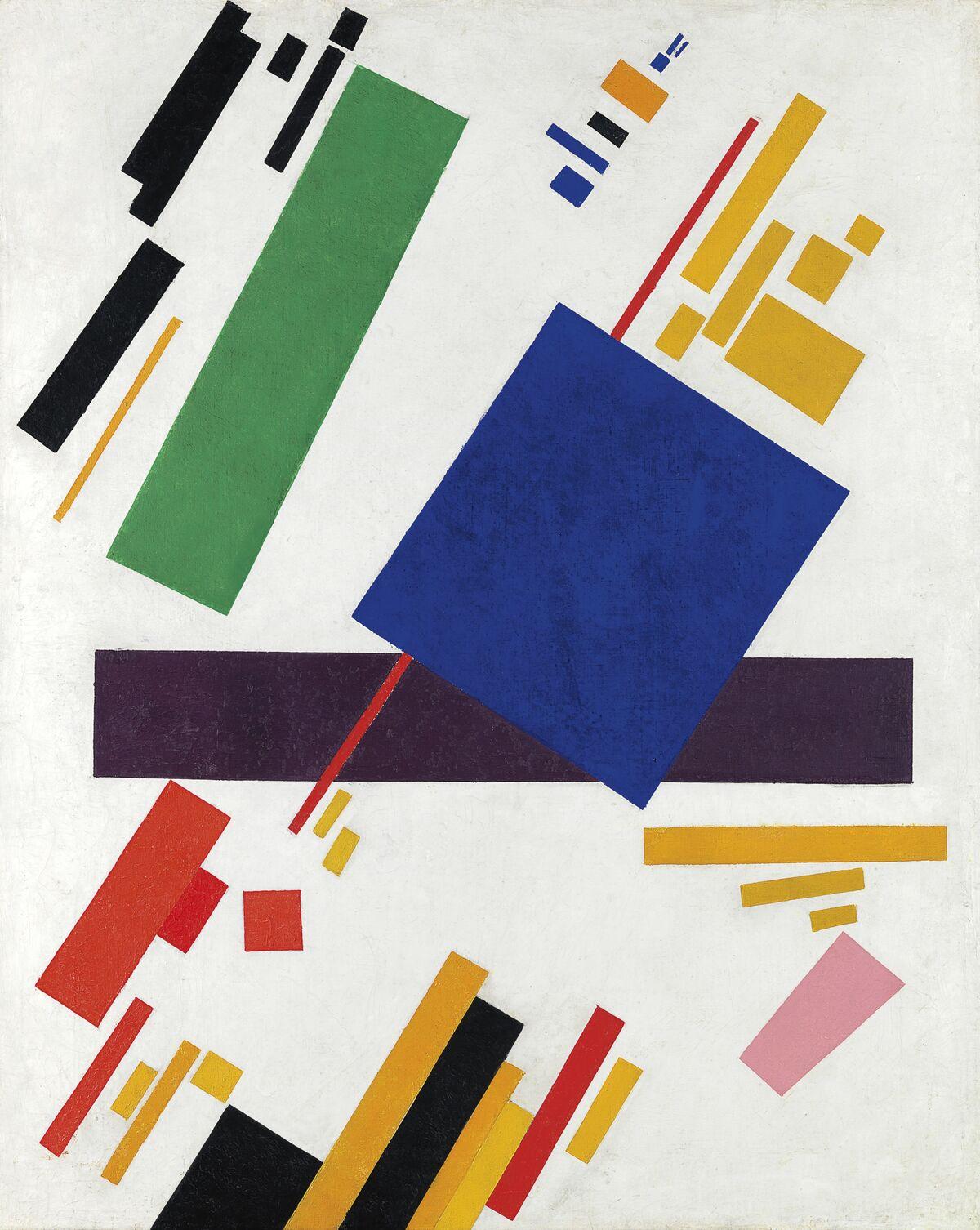 Kazimir Malevich, Suprematist Composition, 1916. Courtesy of Christie's.