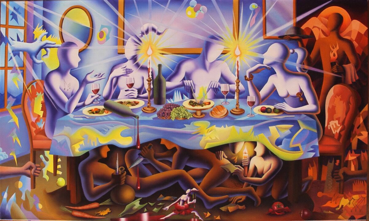 Mark Kostabi, A MATTER OF TASTE, 2017. Courtesy of the artist.