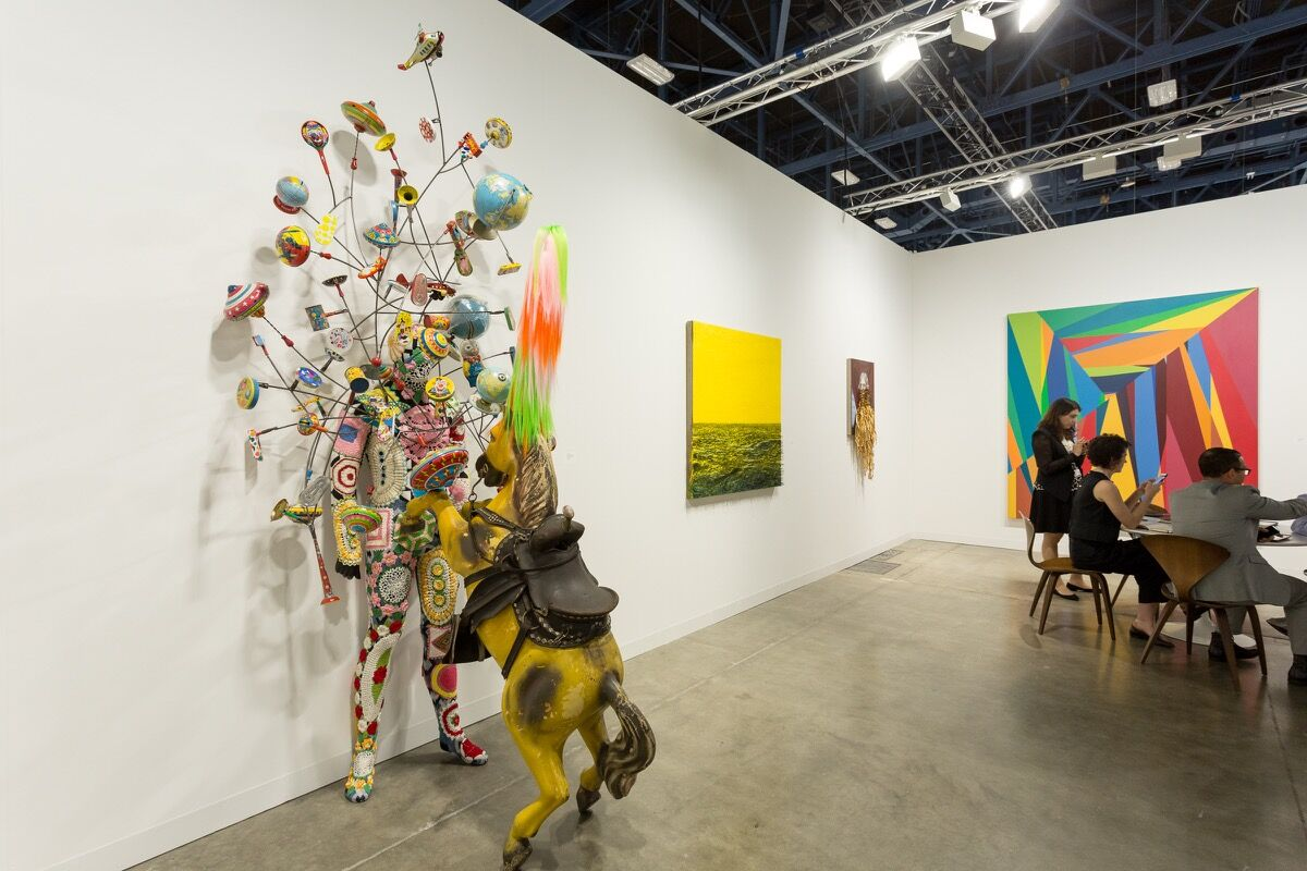 Installation view ofJack Shainman Gallery's booth at Art Basel in Miami Beach, 2016. Photo by Alain Almiñana for Artsy.
