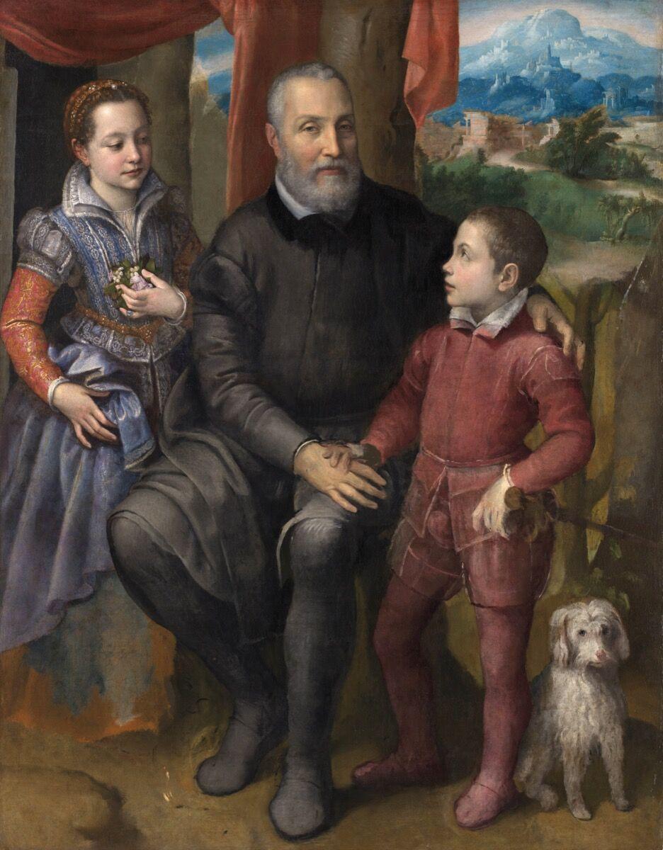 Sofonisba Anguissola,  Family Portrait, 1558. Courtesy of the Museo del Prado.