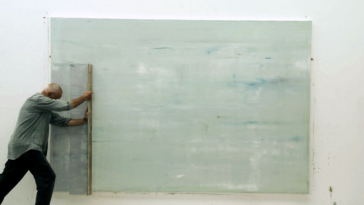 Still from Gerhard Richter Painting, a film by Corinna Belz.