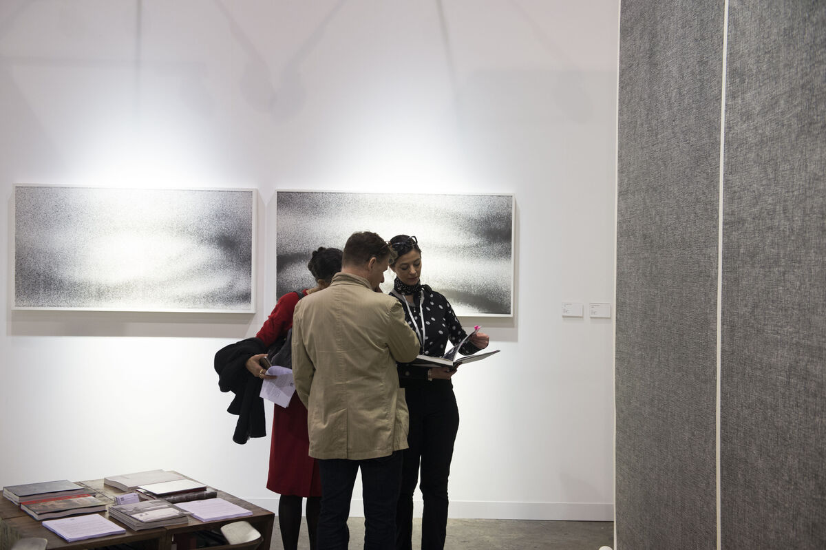 Installation view of Ink Studio's booth at Art Basel in Hong Kong, 2016. Courtesy of the fair.
