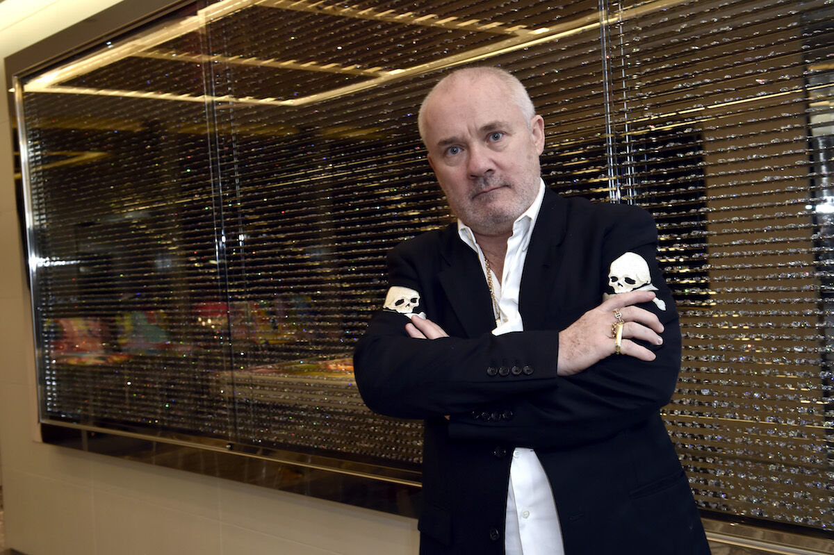 Damien Hirst in the Empathy Suite at the Palms Resort Casino in Las Vegas. Photo by David Becker/WireImage.