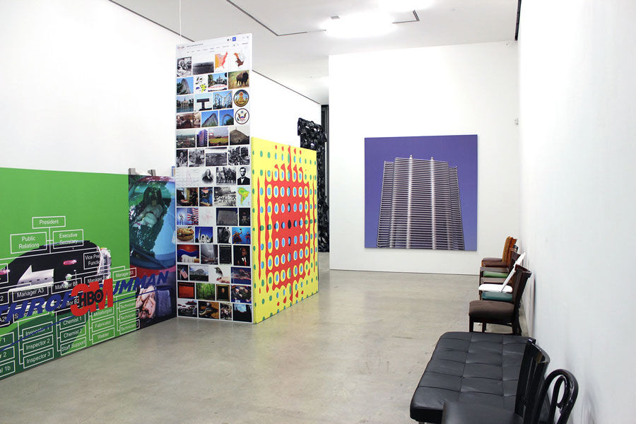"Installation view of ""The Future Is Ow"" at Marlborough Chelsea, New York. Courtesy of Marlborough Chelsea."