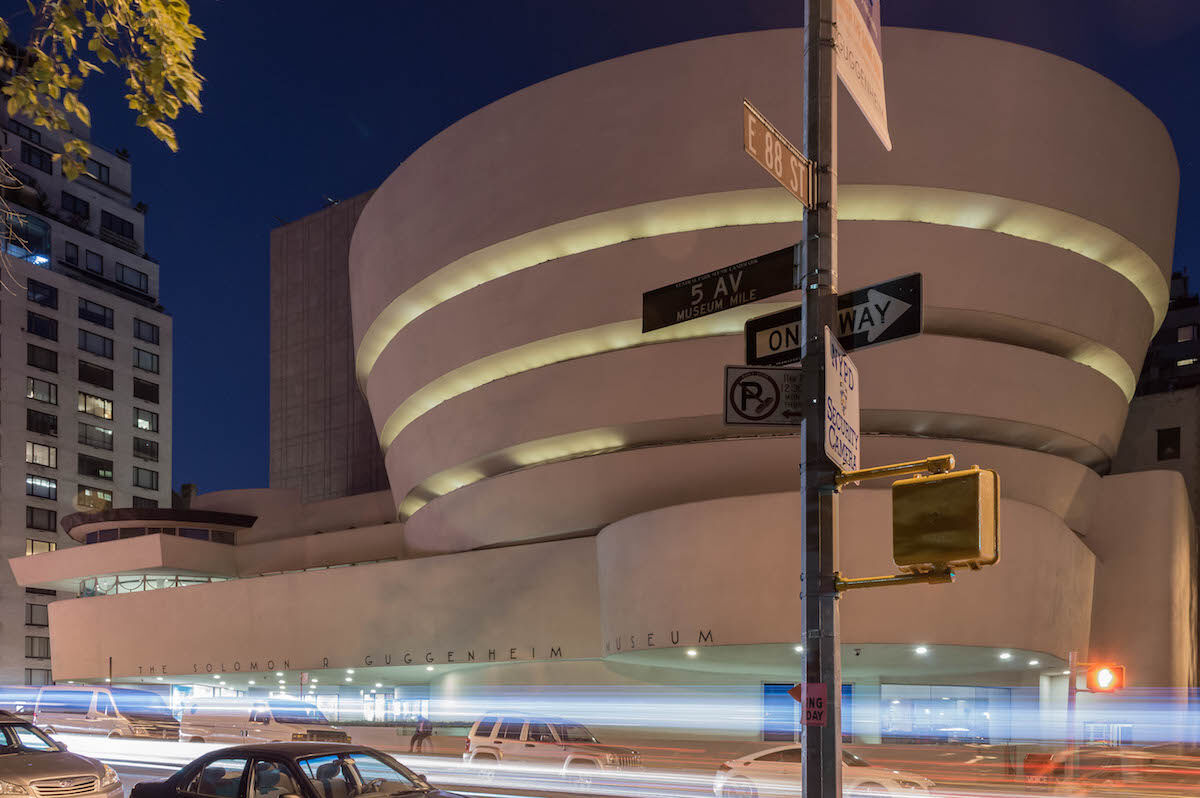 The Solomon R. Guggenheim Museum in New York. Photo by Wjaysdad, via Wikimedia Commons.