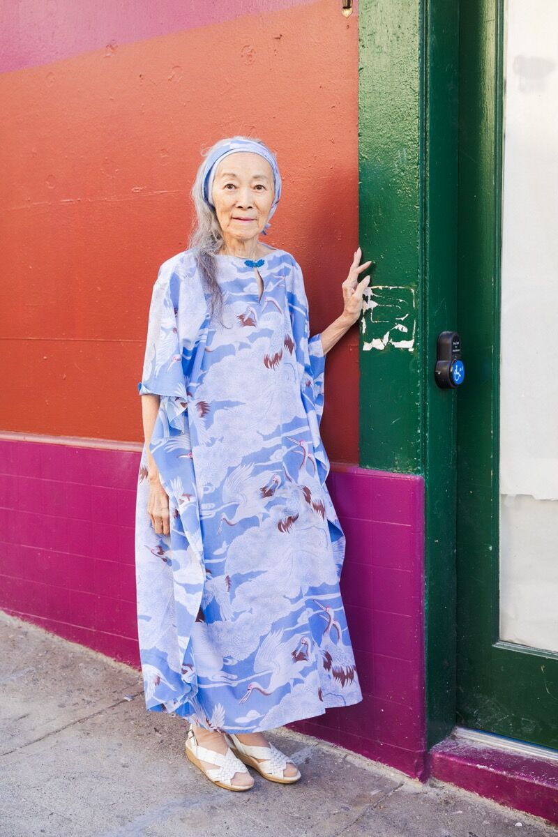 Andria Lo, Dorothy G.C. Quok in her cranes outfit, 2019. Courtesy of the artist and Chinatown Pretty.
