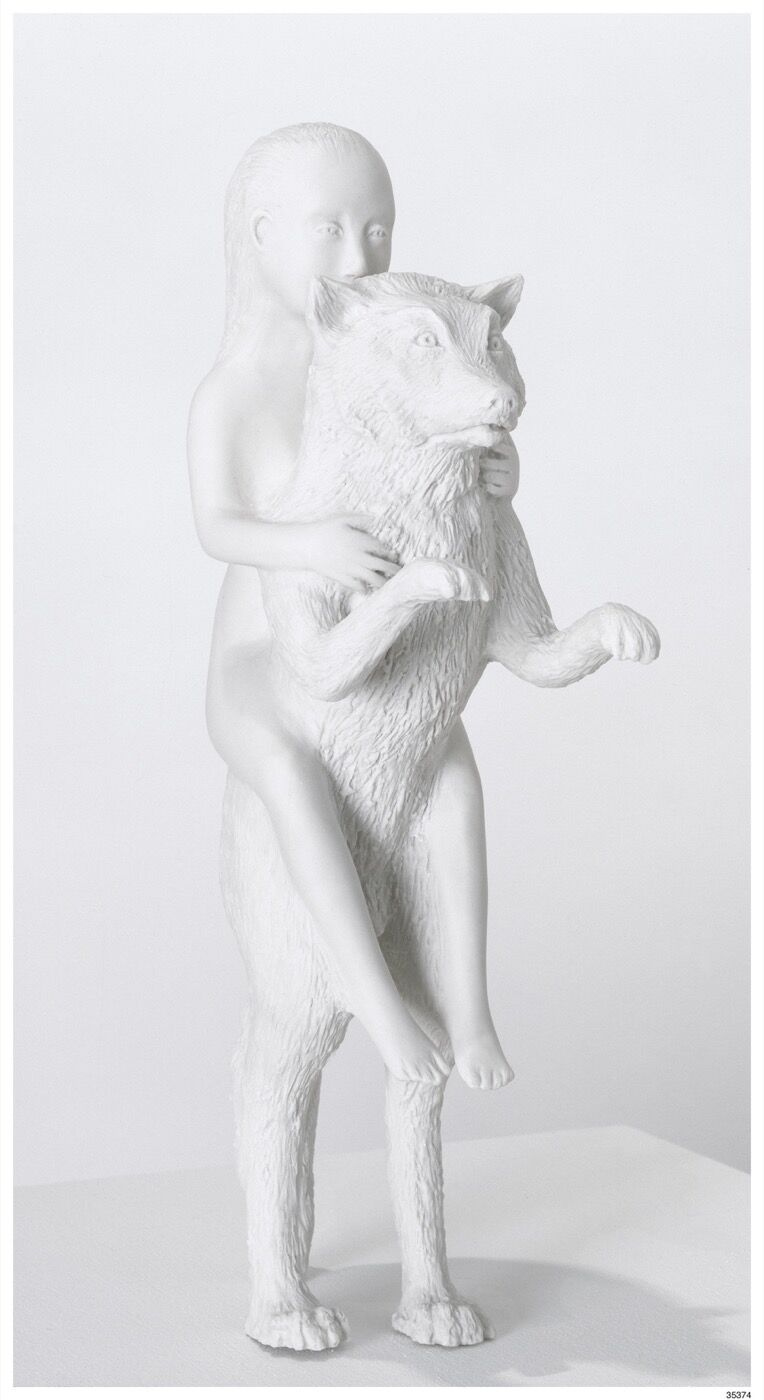 Kiki Smith, Woman with Wolf, 2003. © Kiki Smith. Courtesy of Pace Gallery.