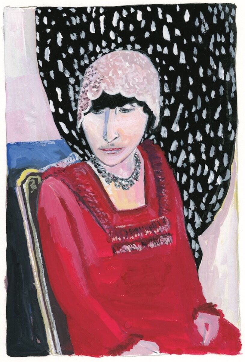 """Maira Kalman, Portrait of Alice,   from   """"  The Autobiography of Alice B Toklas,"""" 2019. Courtesy of Julie Saul Projects, New York."""