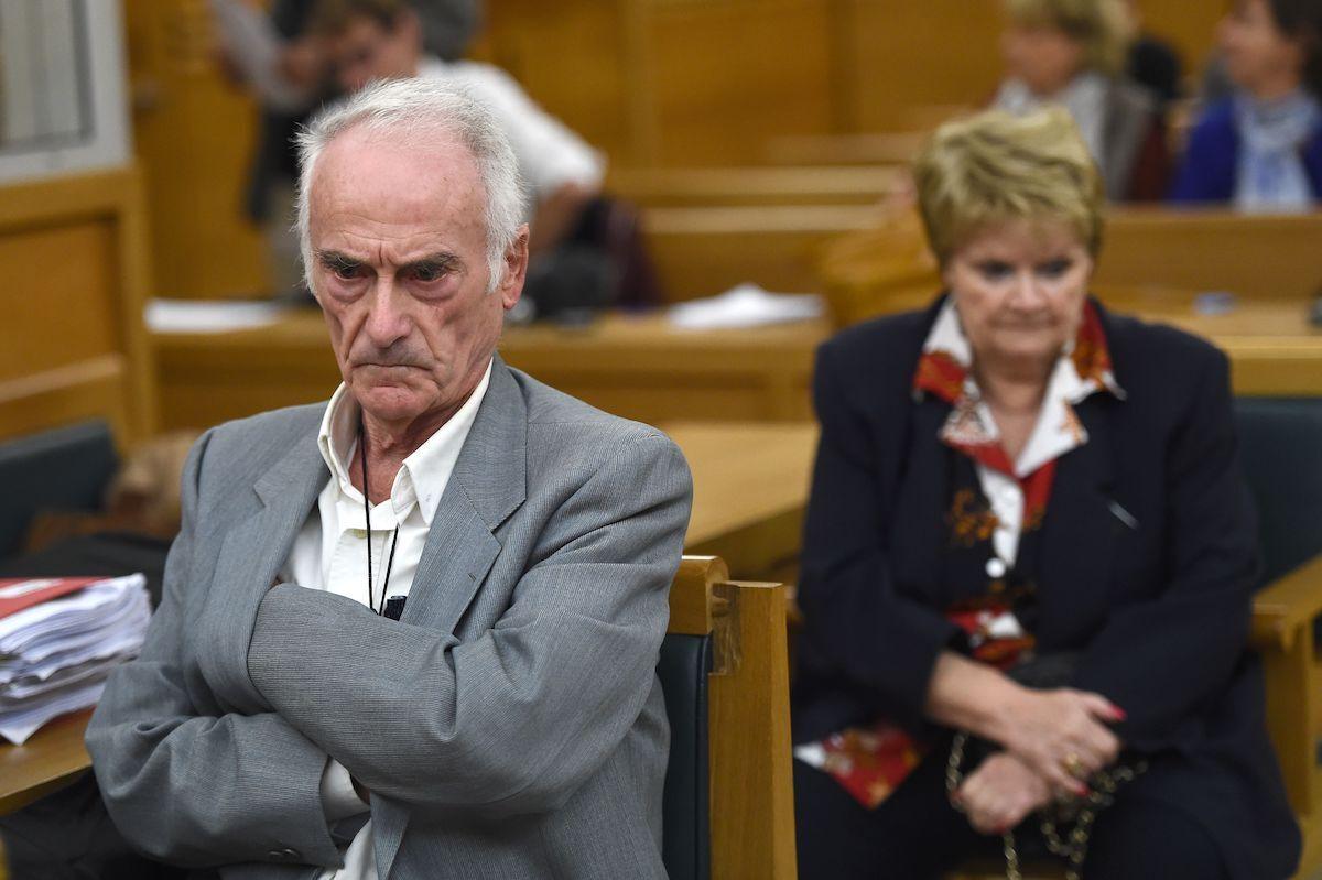 Pierre Le Guennec and Danièle Le Guennec in court in 2016. Photo by Boris Horvat/AFP via Getty Images.