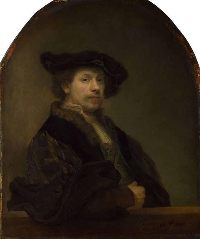 Rembrandt van Rijn, Self Portrait at the Age of 34, c. 1640. Courtesy of The National Gallery, London.
