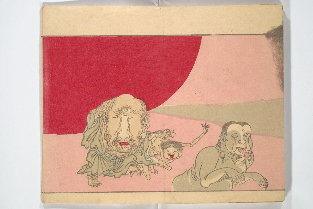 Kawanabe Kyōsai,  Kyōsai's Pictures of One Hundred Demons (Kyōsai hyakki gadan) , 1890. Courtesy of the Metropolitan Museum of Art.