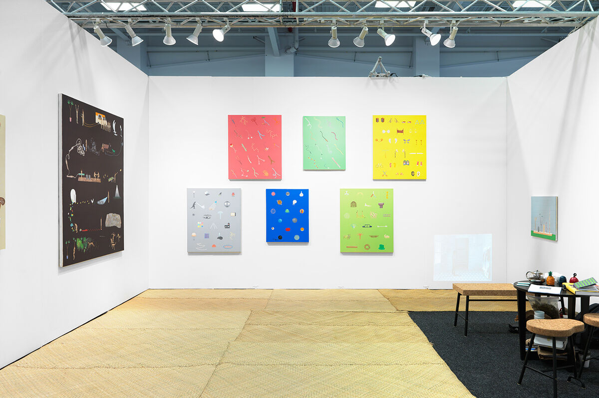 Installation view of works by Akira Ikezoe at Proyectos Ultravioleta's booth at NADA New York, 2016. Photo by Object Studies for Artsy.