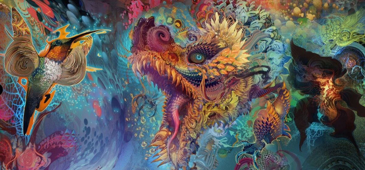 Android Jones, Humming Dragon, 2014. Courtesy of the Smithsonian American Art Museum.