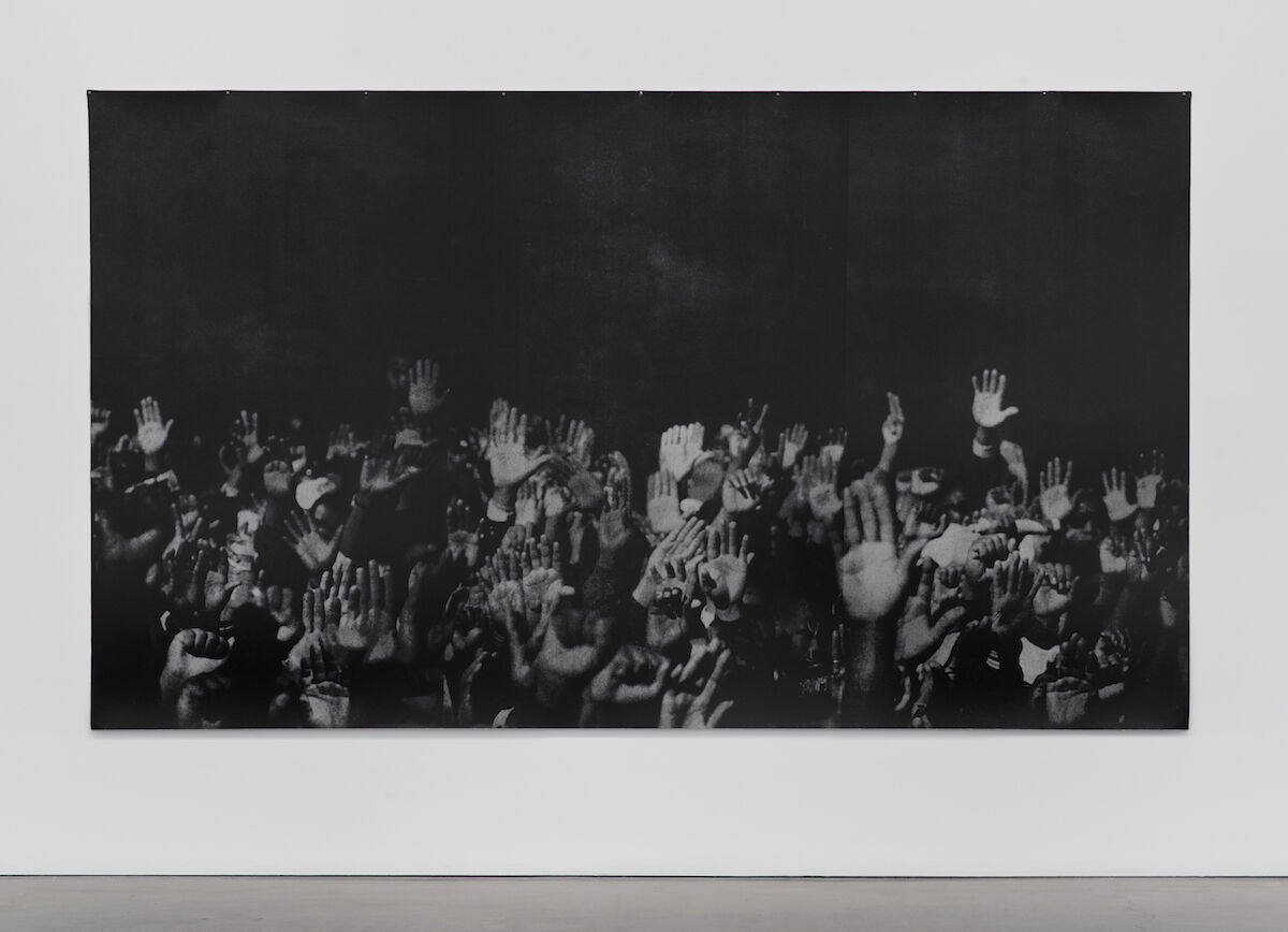 Glenn Ligon, Hands, 1996. Photo by Brian Forrest. © Glenn Ligon. Courtesy of the artist, Hauser and Wirth, New York, Regen Projects, Los Angeles, Thomas Dane Gallery, London, and Chantal Crousel, Paris.