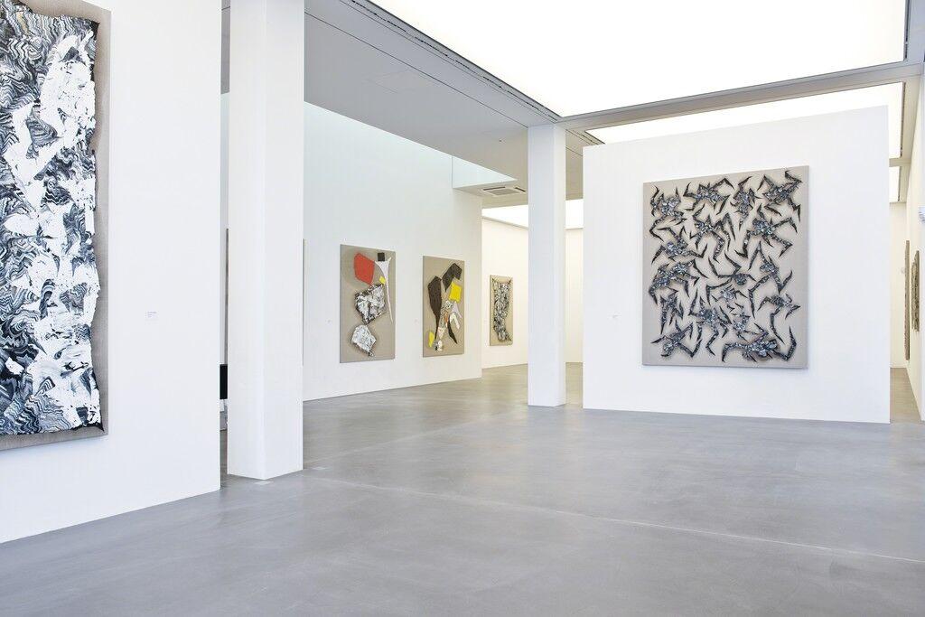 "Installation view of ""Zander Blom: New Works,"" Galerie Hans Mayer, Düsseldorf. Courtesy Galerie Hans Mayer and the artist."
