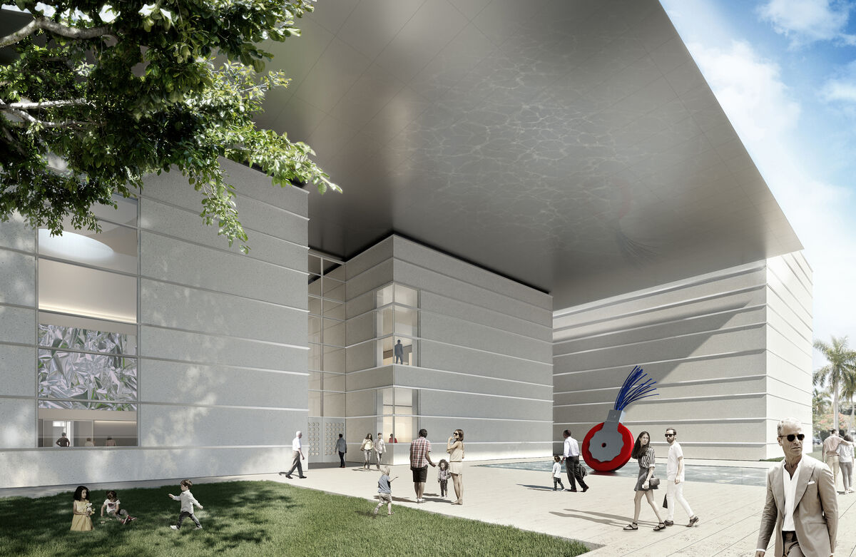 The Norton Museum of Art's new Heyman Plaza designed by Foster + Partners. Image courtesy of Foster + Partners.