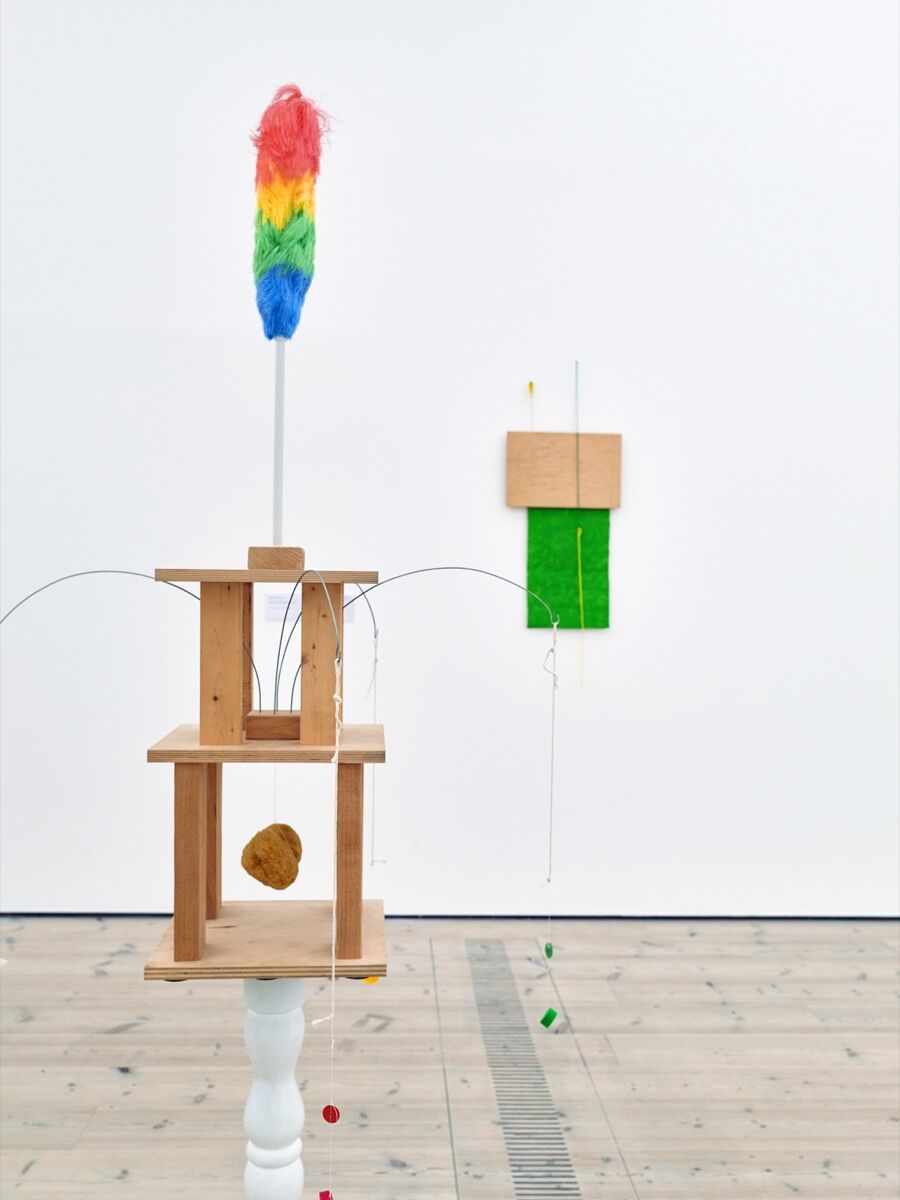B. Wurtz, Untitled (duster), 2012 and Untitled, 1995. Courtesy of the artist; Metro Pictures, New York; and Baltic Centre for Contemporary Art, Gateshead, United Kingdom.