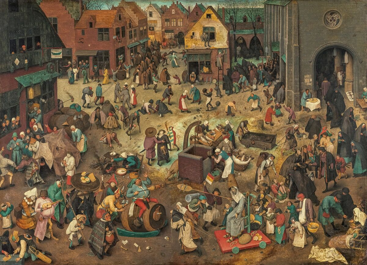 Pieter Bruegel the Elder, The Battle between Carnival and Lent, 1559. Photo via Wikimedia Commons.