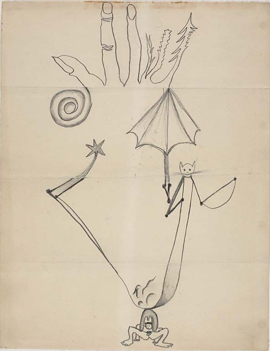George Hugnet, Yves Tanguy, Germaine Hugnet, Jeanette Tanguy, Exquisite Corpse, n.d. © 2018 Estate of Yves Tanguy / Artists Rights Society (ARS), New York. Courtesy of the Art Institute of Chicago.