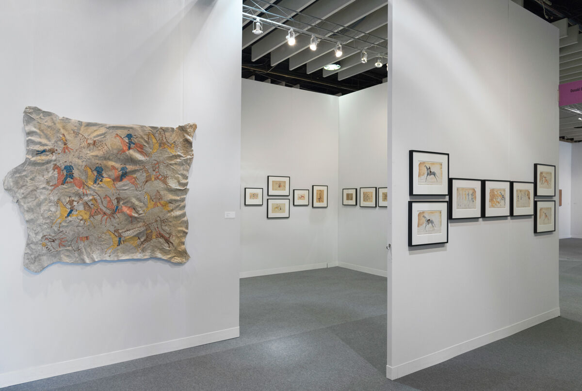 Installation view of Donald Ellis Gallery's booth at The Armory Show, 2017. Photo by Adam Reich for Artsy.
