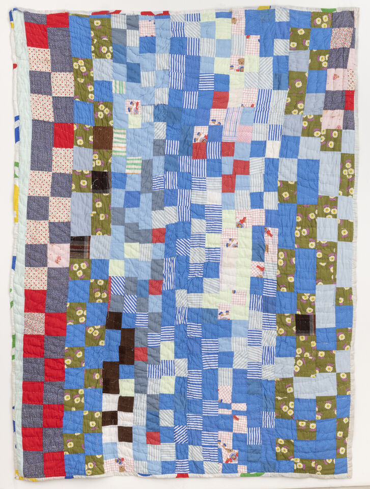 [Annie Mae Young] Columns of Blocks Quilt