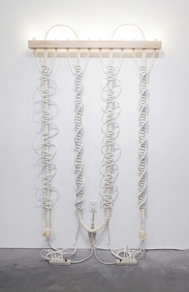 Untitled (White Extension Cords, Rope)