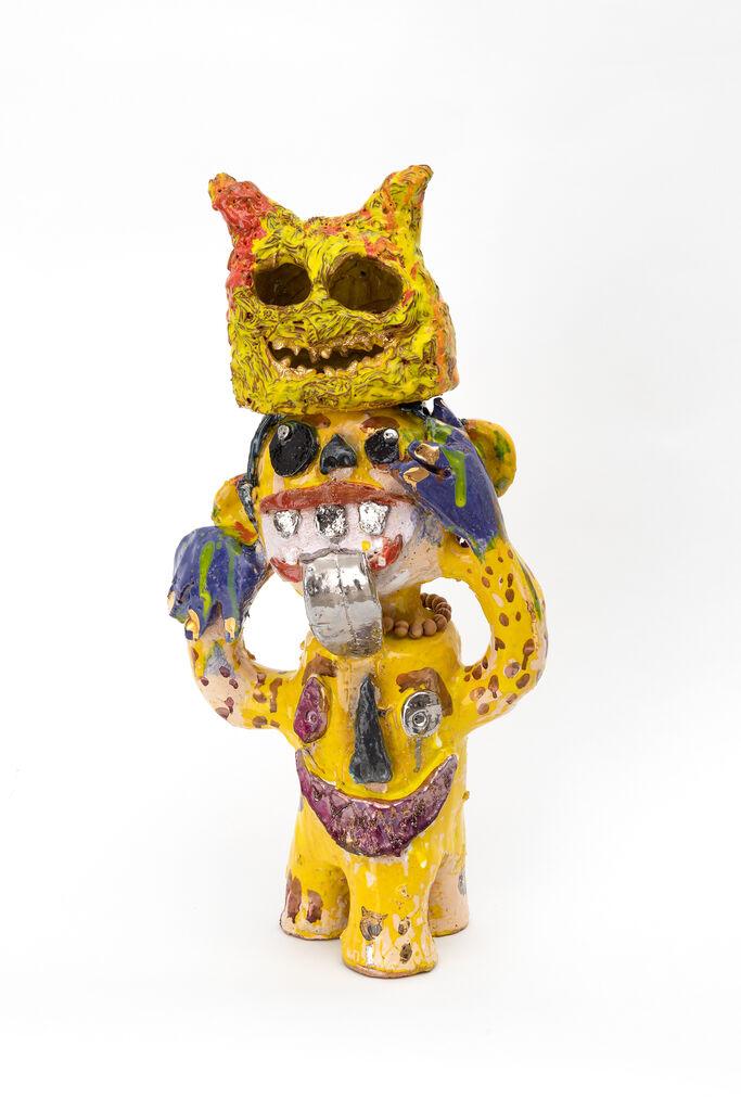 Monkey with yellow mask
