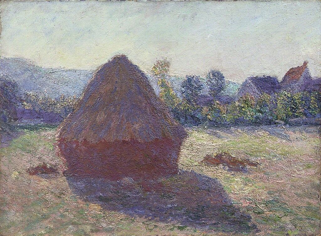 Haystack in the evening