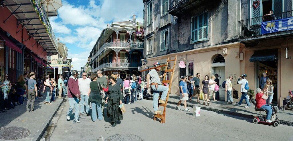 Man on Ladder, Royal Street, New Orleans