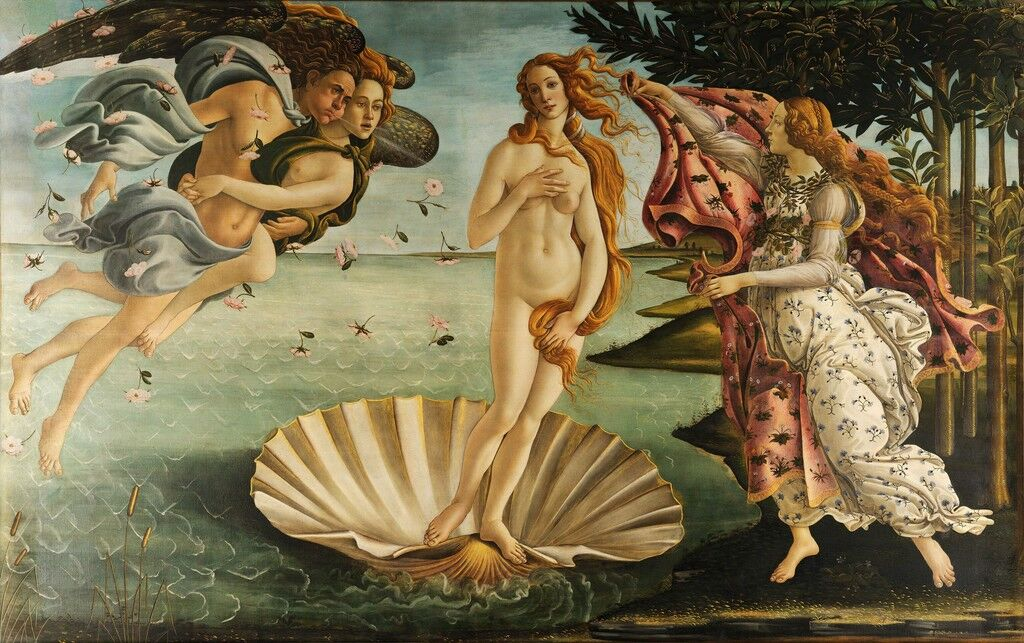 Venus Throws Herself At Waiting Arms Of >> A Look At Botticelli S Birth Of Venus In Pop Culture Artsy