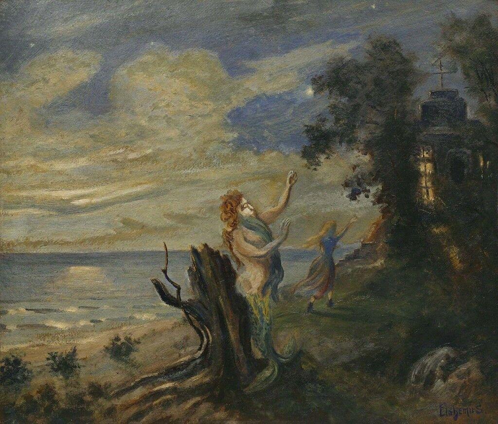 Untitled (Figures in a Moonlit Landscape)