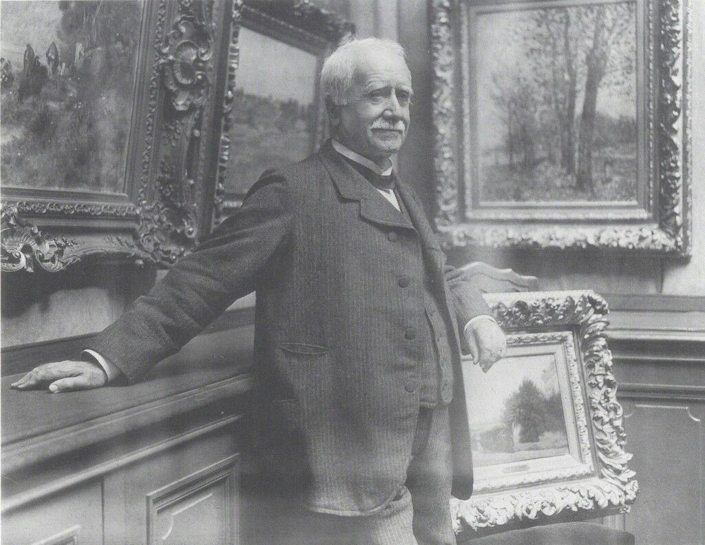 Photograph of Paul Durand-Ruel in his gallery