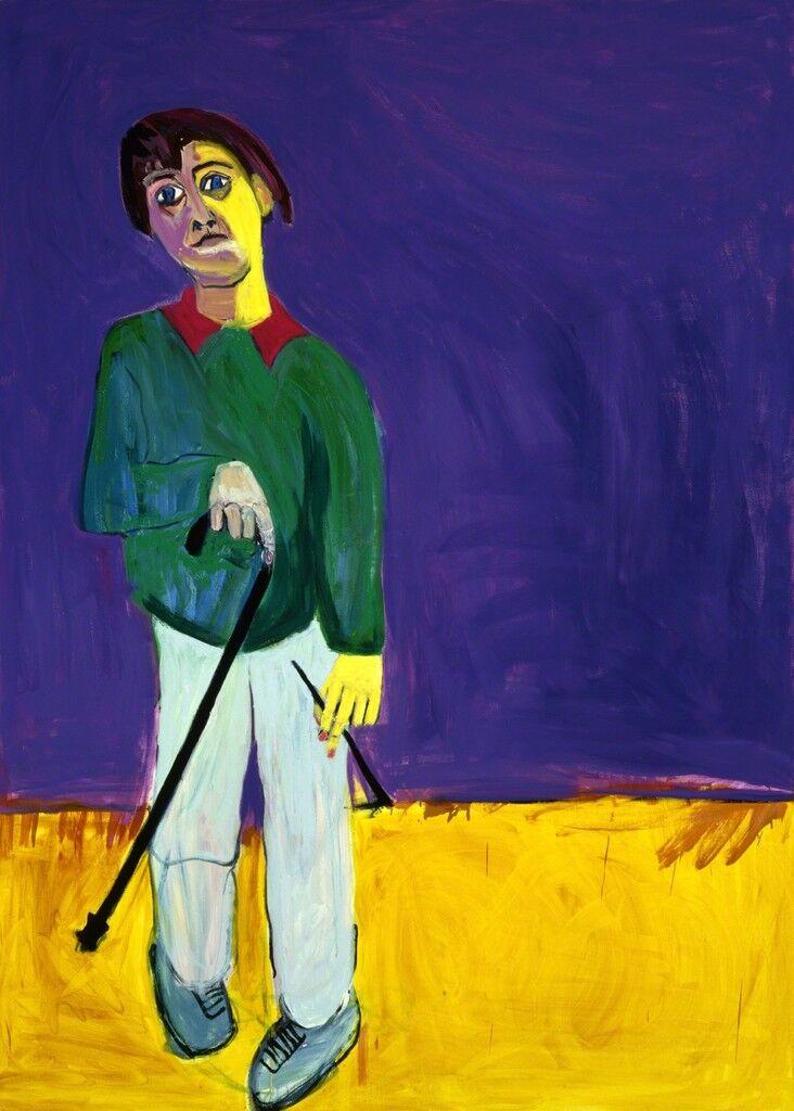 Lucy Jones with Her Walking Stick