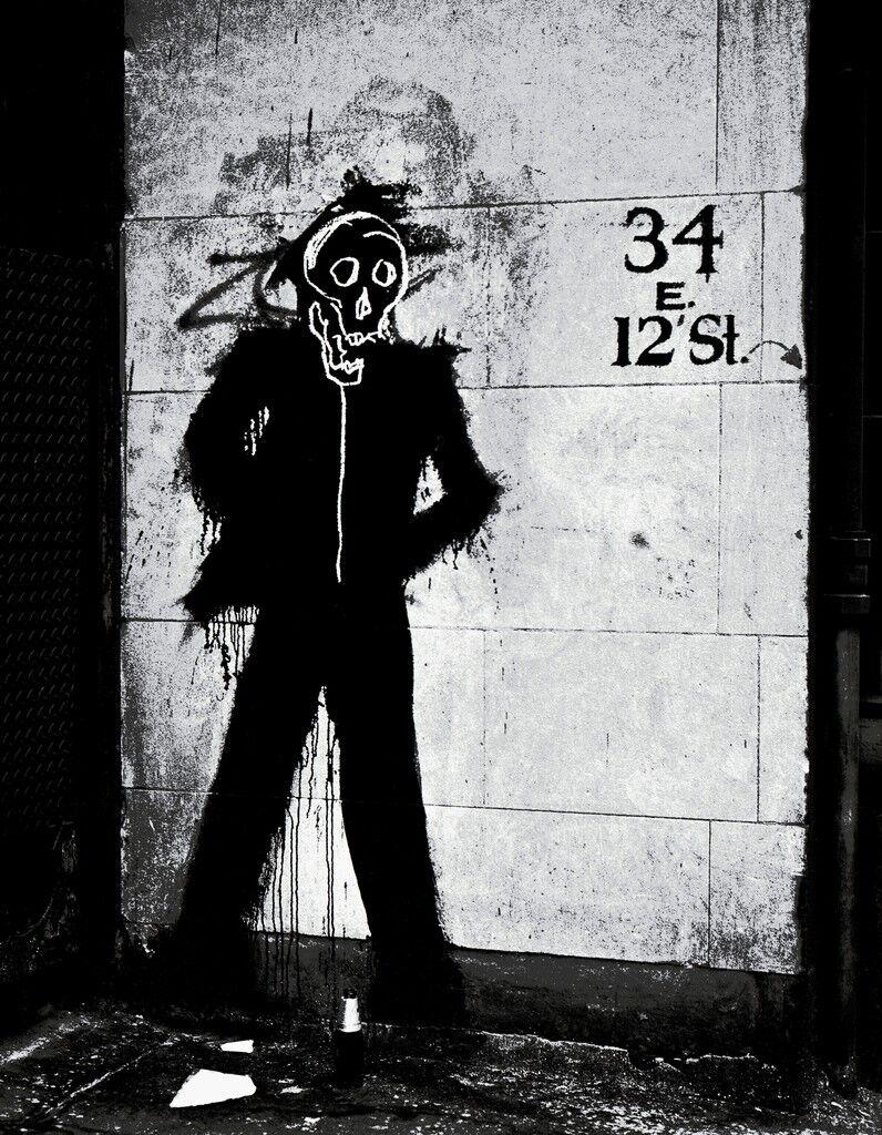 Richard Hambleton and Jean Michel Basquiat - Skull