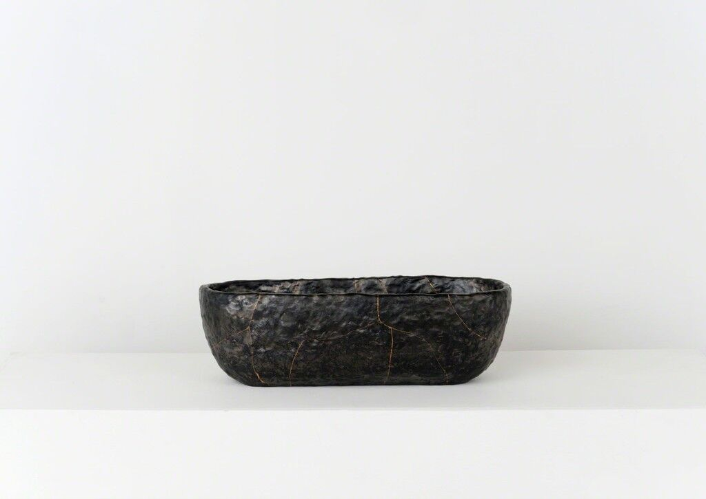 Smolder - Fired Earthenware Bowl, Cracked and Mended