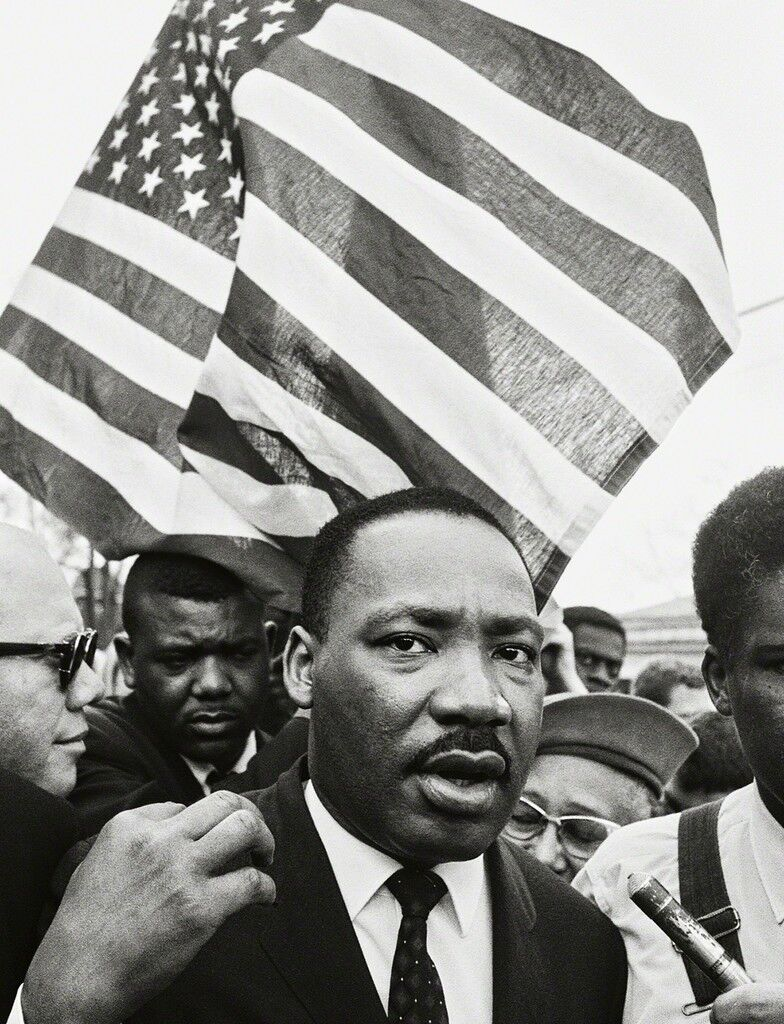 Martin Luther King Jr. (with Flag), Selma March