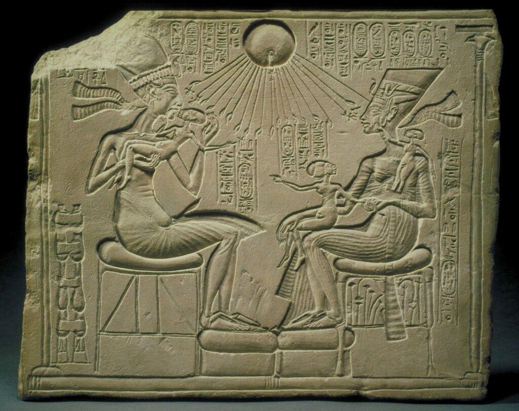 Akhenaten, Nefertiti, and the Royal Princesses