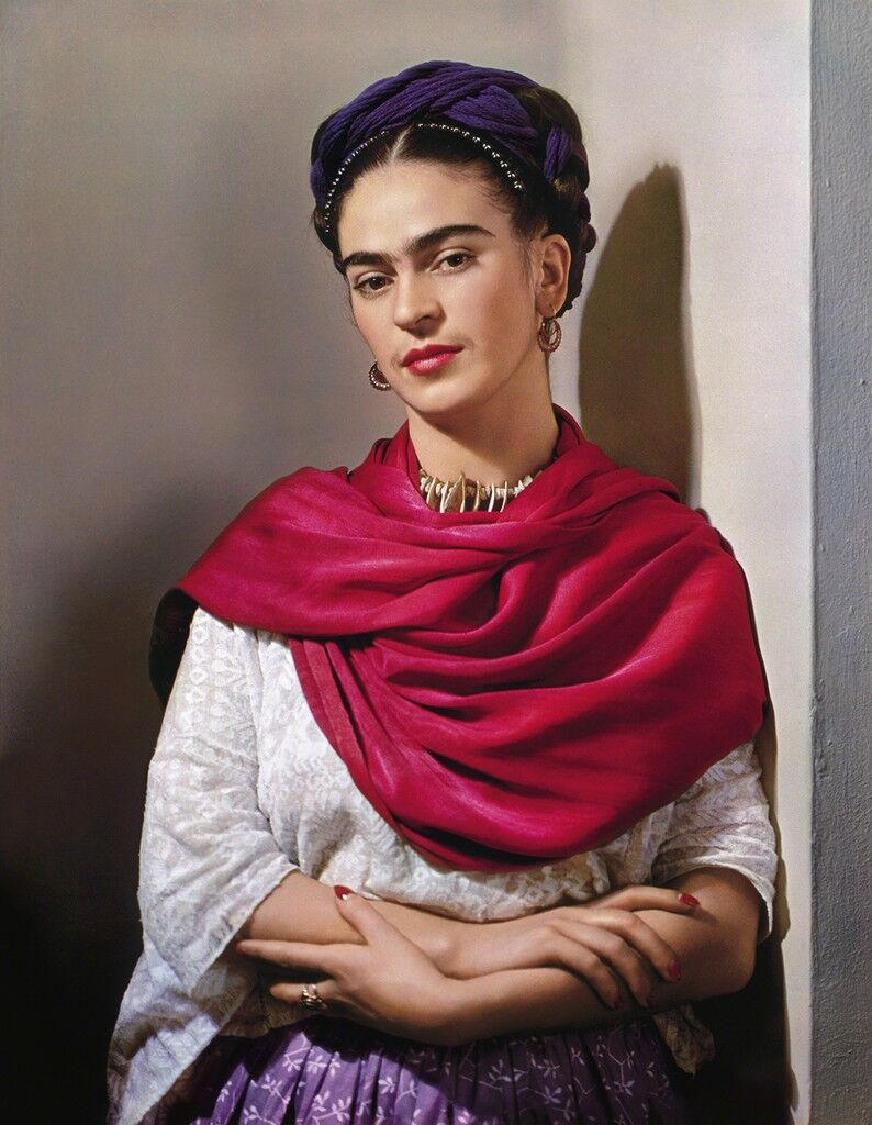 Frida with Magenta Rebozo